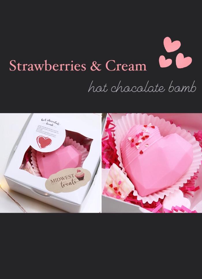 Strawberries & Cream Hot Chocolate Bomb